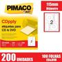Etiqueta Pimaco De Cds E Dvds Cd100b