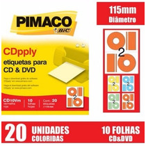 Eiqueta Pimaco Colorida Pra Cd E Dvd