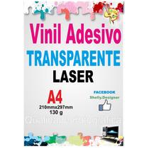 Vinil Adesivo Transparente P/impressora Laser Brindes