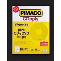 Etiqueta Pimaco Transparente Pra Cd E Dvd