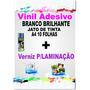 Adesivo Vinil Jato De Tinta Branco+verniz P/laminação