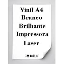 Vinil Adesivo Branco Brilhante A4 Para Impressora Laser