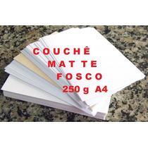 Papel Couchê Matte 250g Fosco A4 Laser 125 Fls Alcantara-rj