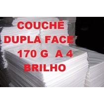 Papel Couchê 170 Gr Brilho A4 Laser 250 Fls Alcantara-rj