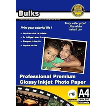 100 Folhas Papel Fotográfico A4 180g Glossy À Prova D´água