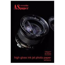 Papel Fotográfico Adesivo Glossy A4 130g Com 20 Folhas