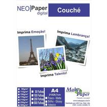 Papel Couche Brilho 250gr/m² A4 (embalagem Com 50 Folhas)