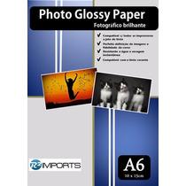 800 Folhas Papel Foto Brilho Glossy 230g A6 Aprox 10x15