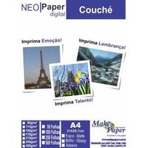 Papel Couche Brilho 90g A4 - Embalagem Com 500 Folhas