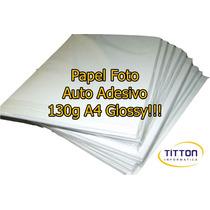 Papel Foto Auto Adesivo 130g A4 Glossy