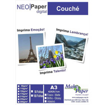Papel Couche Brilho 90gr/m² A3 (embalagem Com 100 Folhas)