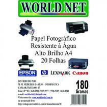 100 Folhas De Papel Foto 180grs - A4 - Limoeiro - Messias !!