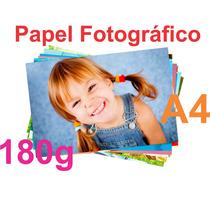 100 Folhas Papel Glossy Fotográfico À Prova D´água 180g A4