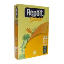 Papel Sulfite A4 Amarelo Com 500 Folhas Report