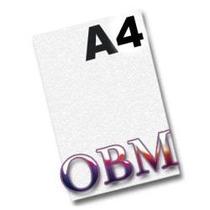 Papel Obm A4 Fundo Branco Para Tecidos Escuros, 100 Folhas