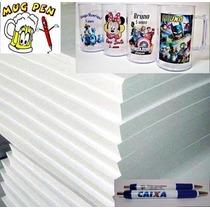 Papel Especial Transf Laser Canecas Acrílicas Canetas-10 Fls