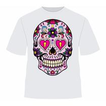 Camiseta Caveira Mexicana Sublimacao De Qualidade