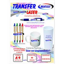 Papel Transfer Laser, Serve Para Impressor De Abraço E Rolet