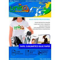 Papel Resinado Sublimático Fundo Azul 100 Folhas Sublimação