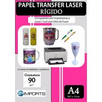 Papel Transfer Rígido Impressora Laser Materiáis Plásticos