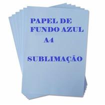 Papel Sublimático A4 Fundo Azul 100 Folhas