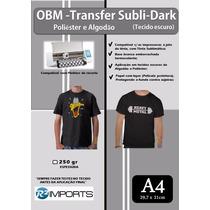 Obm Original Papel Transfer Tecidos Escuros Fundo Bco 10un