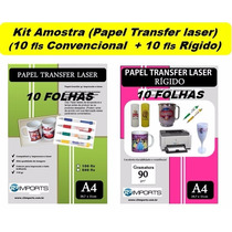 Kit Papel Transfer Impressora Laser Copos Plásticos Brindes