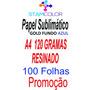 Papel Sublimatico, A4 120g Fundo Azul, Pacote 100 Folhas P4