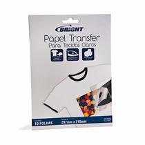 Papel Transfer C/10 Folhas Para Tecidos Claros 00121 Bright