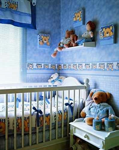 Papel de parede infantil para bebes e crian as r 70 00 - Paredes para ninas ...
