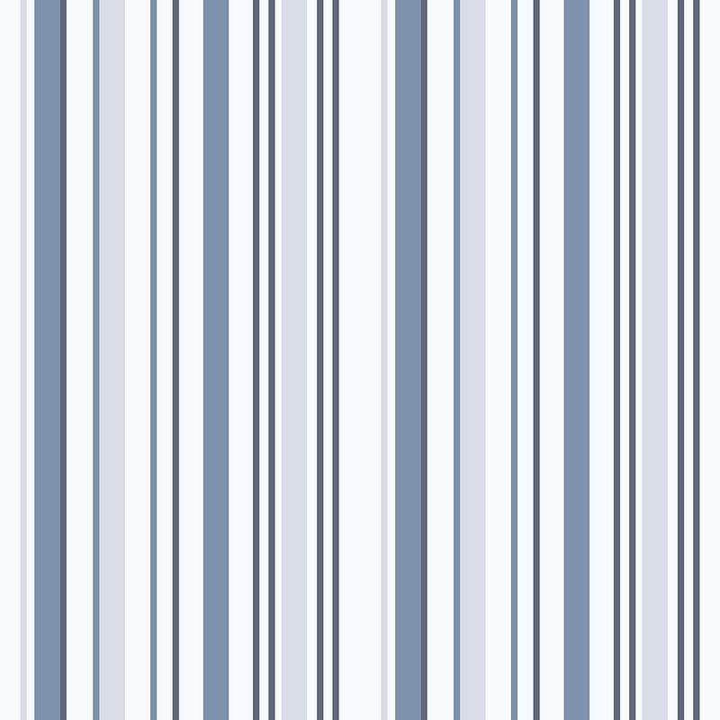 Papel Paredes Infantil Papel de Parede Listras Azul