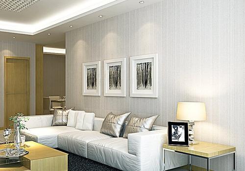 Papel de parede moderno listrado discreto frete gr tis for Papel pared moderno