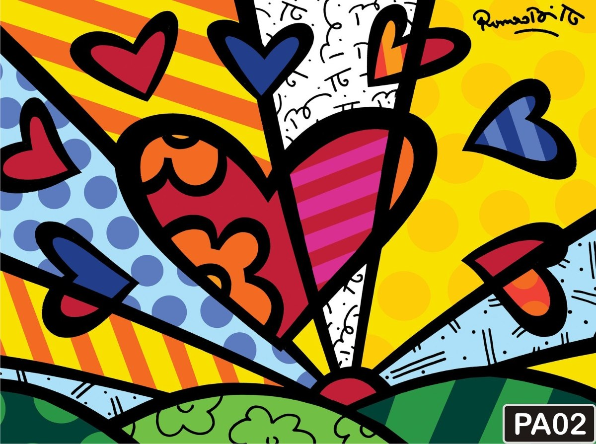 Papel De Parede Romero Britto Pop Art Quadros Coloridos R$ 4500 No