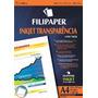 Transparência P/ink-jet A4 C/tarja Filipaper Pct 50 Folhas