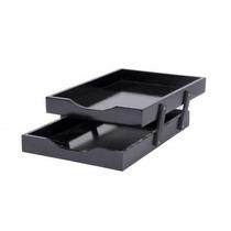 Caixa De Corresp (escaninho) Dupla N°2 Mdf Black Piano