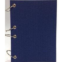 Caderno Pequeno Argolado Fichário Poá Azul 170x230mm 192 Fls