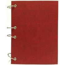 Caderno Pequeno Argolado Fichário Vermelho 170x230mm 192fl