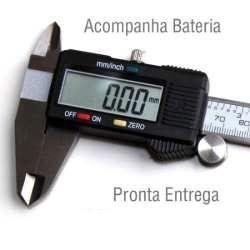 Paquímetro Digital 150mm/6 + Bateria + Estojo + Frete Grátis