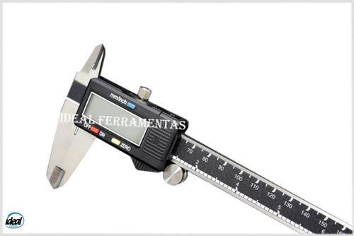 Paquímetro Digital Profissional 200mm C/estojo E Garantia