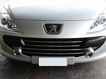 Par De Moldura Aro Cromado Para Farol Milha Peugeot 307