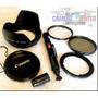 Super Kit Canon Sx50 Parasol Adaptador Filtro Uv Polarizador