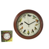 Novidade Relógio Bird - 12 Cantar Canção Som Natureza Mus