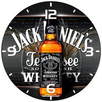 Relógio Parede Decoração Bar Whisky Jack Daniels