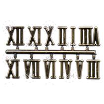 Algarismos Romanos Para Relógio De Parede - Grande Dourado