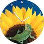 Relógio De Parede Redondo Flor Girassol