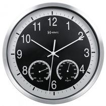 Relógio Parede Herweg 6416 034 Termômetro Analóg - Refinado