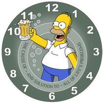 Relógio Parede Decoração Bar Cerveja Duff Homer Simpsons