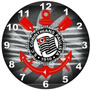 Relógio Parede Decoração Futebol Corinthians Tamanho Grande
