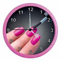 Relógio De Parede Redondo Manicure