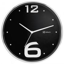 Relógio Parede Herweg 6193 222 Preto Analógico - Refinado